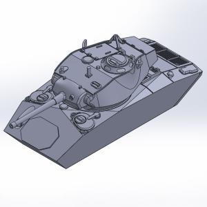 1/144 M24軽戦車チャーフィー原型製作記(その4)