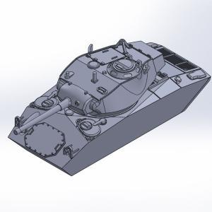 1/144 M24軽戦車チャーフィー原型製作記(その5)