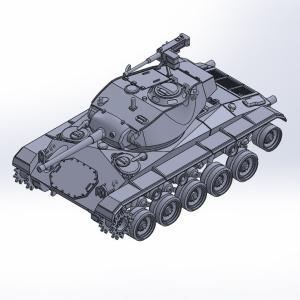 1/144 M24軽戦車チャーフィー原型製作記(その7)