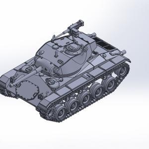 1/144 M24軽戦車チャーフィー原型製作記(その8)