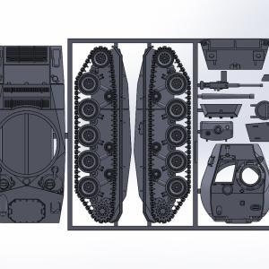 1/144 M24軽戦車チャーフィー原型製作記(その9)