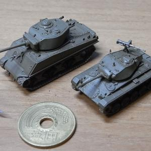 1/144 M24軽戦車チャーフィー他、サンプル組立