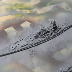1/2000 戦艦比叡、サンプル組立中