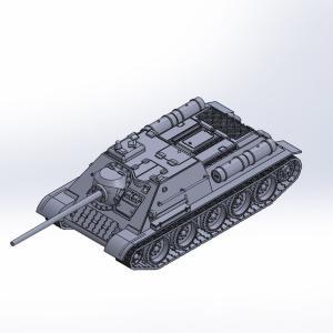 1/144 SU-85自走砲 原型製作記(その3)
