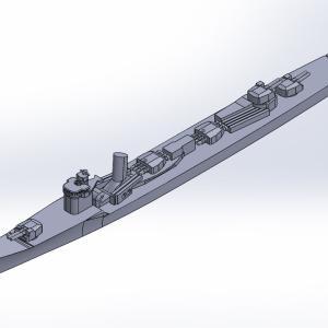 1/2000 陽炎型駆逐艦(UVレジン版)原型製作記(その3)