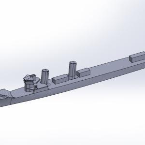 1/2000 峯風型駆逐艦(UVレジン版)原型製作記(その2)