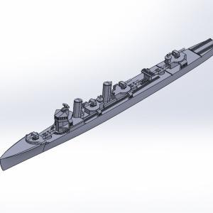 1/2000 峯風型駆逐艦(UVレジン版)原型製作記(その3)