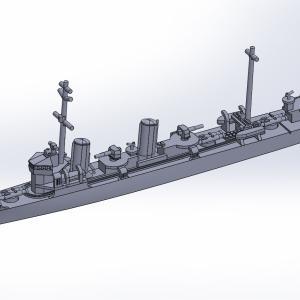 1/2000 峯風型駆逐艦(UVレジン版)原型製作記(その4)