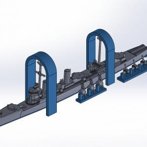 1/2000 峯風型駆逐艦(UVレジン版)原型製作記(その5)