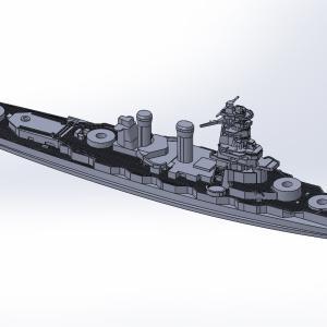 1/2000 戦艦霧島 原型製作記(その5)