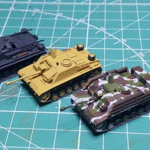 1/144 III号突撃砲各種、サンプル組立中