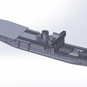 1/2000 南極観測船宗谷、原型製作記(その4)
