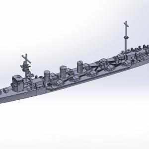 1/2000 重雷装艦 木曽(IF仕様)原型製作記