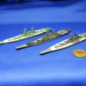 スノーマンモデル製、1/2000大和型戦艦サンプル完成