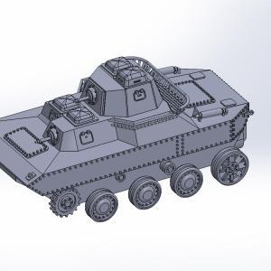 1/144 水陸両用戦車SR II原型製作記(その1)