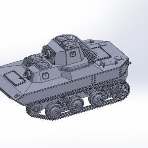 1/144 水陸両用戦車SR II原型製作記(その2)