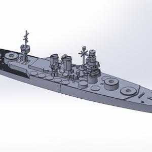 1/2000 戦艦カイオ・ドゥイリオ原型製作記(その2)