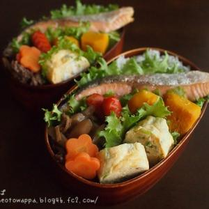 10月22日 焼き鮭弁当とハムマヨチーズパン