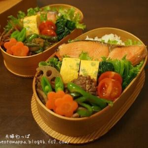 1月15日 焼き鮭弁当とチーズウインナーパン