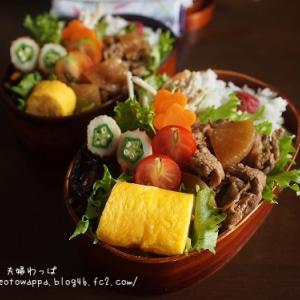 7月7日 牛肉と大根の甘辛炒め弁当とバナナパウンド