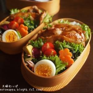 9月18日 豚焼き肉弁当とココアマーブルパウンド