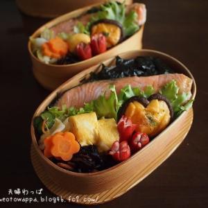 4月19日 海苔鮭弁当