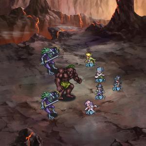 ロマサガRS 聖石洞窟に潜む影おすすめクエストUH4を2ターン周回中 熱全体攻撃技・術キャラで固めてSS宝箱集めしましょう【パーティ・陣形・戦闘力】