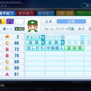バット円島がパワフェスでレベル13まで限界突破成長した時の能力 キャラとは裏腹に安定感のある能力です【パワプロ2020・画像あり】