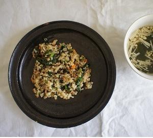 納豆とひじきの玄米チャーハン+ きのう何食べた?