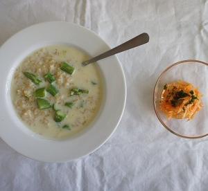 アスパラの豆乳玄米リゾット