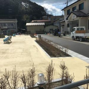 桂島の船着き場の空き地の整備が進んでいます(20210323)