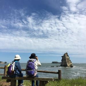 千代崎展望台(野々島)に行きました。フォトスポットがすっきりしました。(2021.06.05)