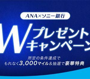 ANAは、条件達成で、もれなく3,000マイル&抽選で豪華特典が当たるキャンペーンを開催!