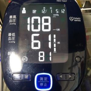 今朝の検温・血圧測定結果
