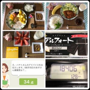 【今日のあすけん健康度】(21.06.15)体調不良