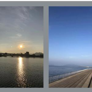蒸し暑い広島の朝