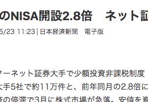 NISA近況報告(株・投資信託)