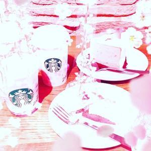 STARBUCKS COFFEE ♡ さくらさくらんぼフラペチーノ ♡ さくらミルクラテ♡♡♡