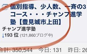 ティーダブログアクセスランキング193位!