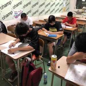 中3高校入試☆7/27月〜8/1土☆時間割