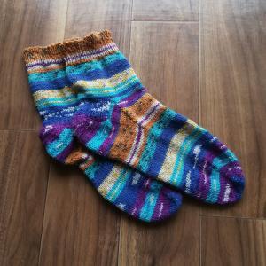 編み物 靴下3足目4