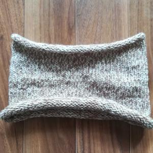編み物 ほどいて編み直し ネックウォーマー 完成