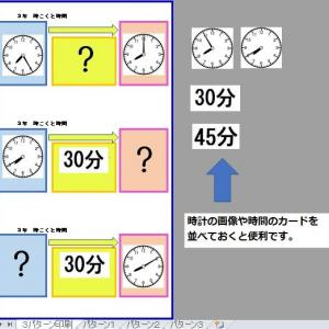 時刻と時間は図を使ってイメージさせたい