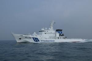 フィリピン共和国運輸省向け大型多目的対応船の進水式。