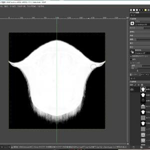 GIMPでヘアキャップの生え際の修整