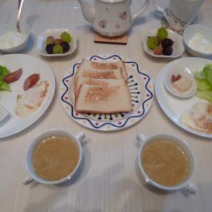 朝ご飯と今日の買い