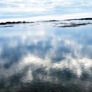 鏡のような海