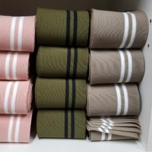 新色リブニットとリブ生地 New colored rib knit