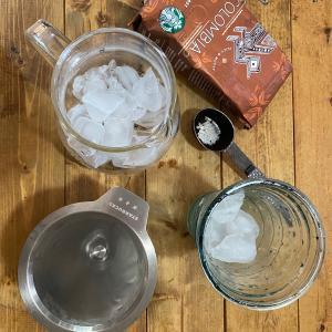 グラスドリップメーカーでアイスコーヒー