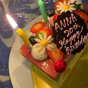 娘の誕生日 前夜祭 モンプレジールのケーキ サイゼリアパーティ